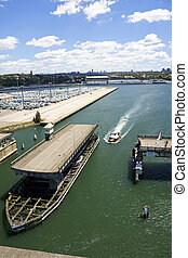 Glebe Island Bridge, Sydney - Image of Glebe Island Bridge...