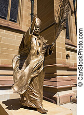 Statue of Pope John Paul the Great - Image of the statue of...