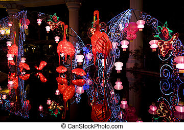 Chinese New Year Street Decoration - Image of Chinese Lunar...