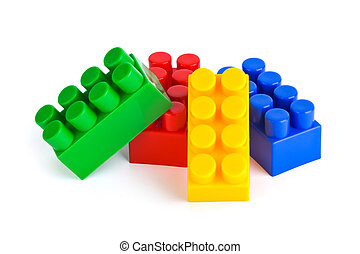 Toy blocks isolated on white background