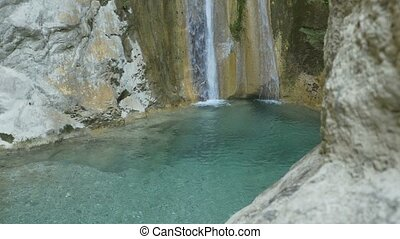 Crystal Water Cold Waterfall - Beautiful crystal cold...