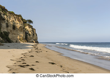 Secluded Dume Cove Beach in Malibu - Afternoon at secluded...