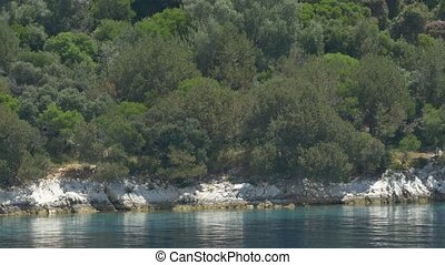 White Washed Rocks Shore - White cliffs along the sea shore...