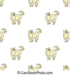 Persian icon in cartoon style isolated on white background. Cat breeds symbol stock vector illustration.