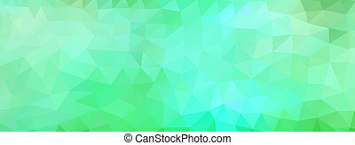 polygon background green and light blue, wide screen -...