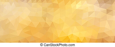 polygon background honey, wide screen - Abstract polygonal...