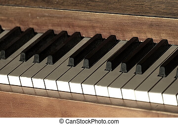 Old Vintage Piano with Keys for Music