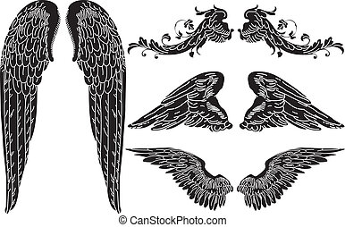 Angel Wings - Four Sets of Detailed Angel Wings