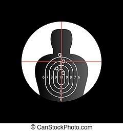 Target Crosshair - Torso target in cross hair with bullet...