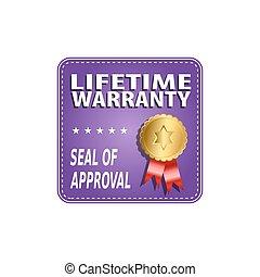 Lifetime Warranty Label