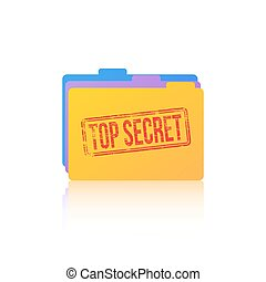 Top Secret Files - Files icon with top secret stamp across