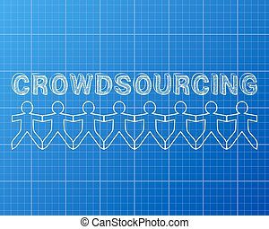 Crowdsourcing People Blueprint - Crowdsourcing hand drawn...