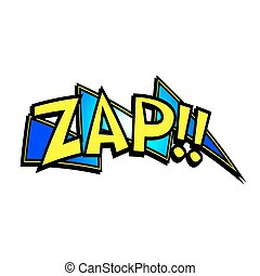 Cartoon Zap Sound - Cartoon zap colorful text caption...