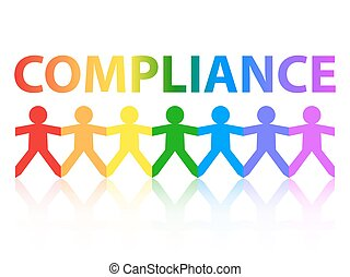 Compliance Paper People Rainbow - Compliance cut out paper...