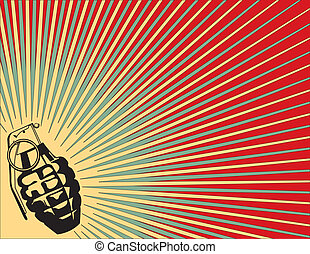 Exploding Grenade Background