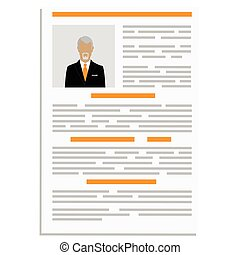 CV design template - Vector illustration cv or resume design...