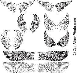 Grunge Angel Wings - Eight Pairs of Grunge Angel Wings