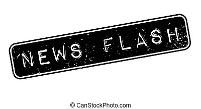 News Flash rubber stamp. Grunge design with dust scratches....