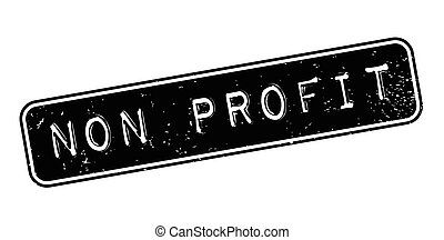 Non Profit rubber stamp. Grunge design with dust scratches....