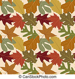 Seamless Repeating Fall Leaf Background, repeat as many...