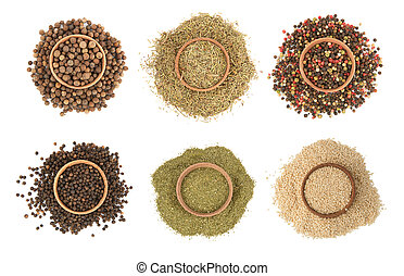 Variety of spices high resolution