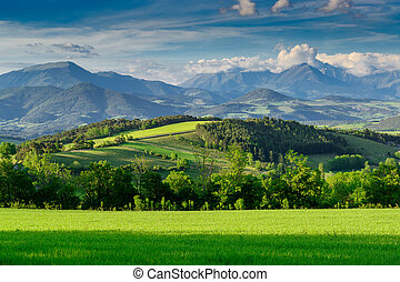 Beautiful mountain landscape in Provence, France