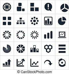 Vector Illustration Set Of Simple Icons. Elements Surge,...