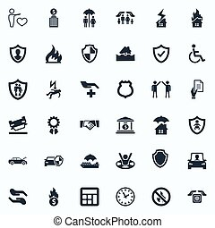 Vector Illustration Set Of Simple Fuse Icons. Elements Kid,...