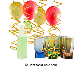holiday entertainment - balloons crystal glasses and...