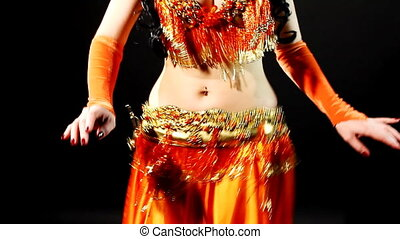 dancing woman with hands