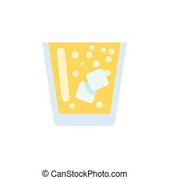 Isolated Juice Flat Icon. Lemonade Vector Element Can Be Used For Lemonade, Juice, Drink Design Concept.