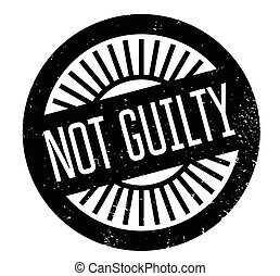 Not Guilty rubber stamp. Grunge design with dust scratches....