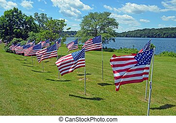 Independence Day Flag Display