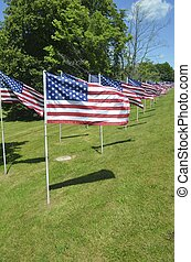 Independence Day flag display in Carmel,New York