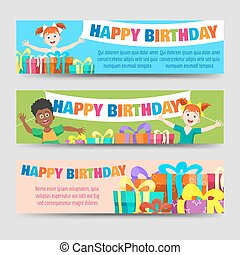 Birthday banners template