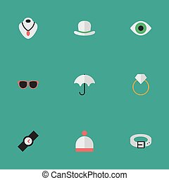 Vector Illustration Set Of Simple Instrument Icons. Elements...