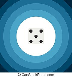 Isolated Dice Flat Icon. Backgammon Vector Element Can Be...
