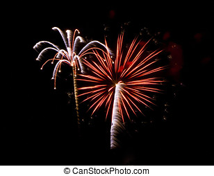 July 4th Fireworks in Arizona - A colorful fireworks display...