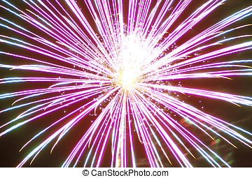 Star Burst - A closeup shot of a fireworks display that...