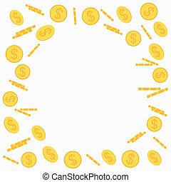 Gold coins flying