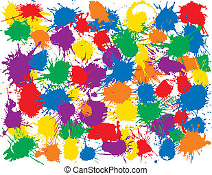 Rainbow Splatter, many inkblots to add to your designs