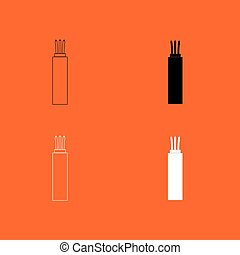 Electric cable icon .