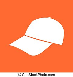 Baseball cap white color icon .