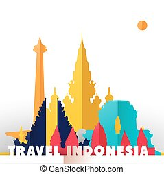 Travel Indonesia monuments - Travel Indonesia concept...