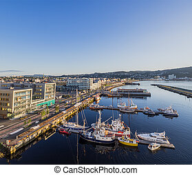 The Brattor Quay in Trondheim, Norway - The Brattor Quay in...