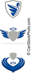Guardian angel - A set of guardian angel icons