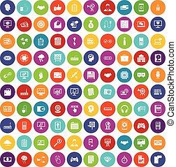 100 web development icons set color - 100 web development...