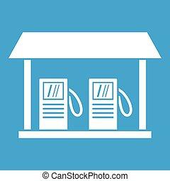 Gas station icon white