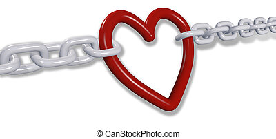 Love chains pull romantic valentine heart links - Chains of...