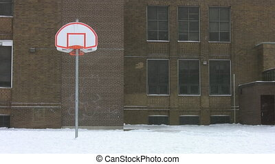 Winter high-school - Outside an Ontario highschool with...